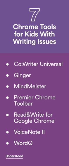 Chrome has several tools that can help kids who struggle with writing. Take a look at these seven apps and extensions. (Extensions add functions to the Chrome browser.) These tools can be used on Chromebooks or on any device with a Chrome browser.