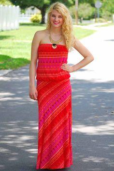 Becky Print Maxi by Veronica M. #VeronicaM #print #red #summer #color #love - JC's Boutique - www.SHOPJCB.com
