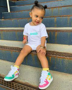 Cute Little Girls Outfits, Pretty Little Girls, Kids Outfits Girls, Toddler Girl Outfits, Kid Outfits, Cute Mixed Babies, Cute Black Babies, Beautiful Black Babies, Cute Babies