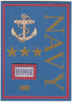 United States Navy Honor Blank Card by ChainMailandMore. 25% of all proceeds from military cards goes to the Wounded Warrior Project and the Special Operations Warrior Foundation
