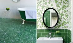 Emerald City Green.  Love the floor.  Thinking Emerald green or some variation for Miaread's bathroom.