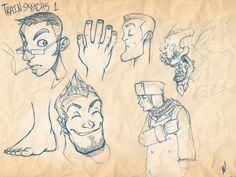 Train Sketches 1 by Zatransis.deviantart.com