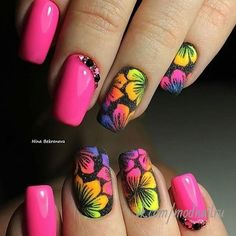 21 - You want to make your nail polishes patterned, here are examples. - 1 We are introducing 2019 marbling nail designs with you. How about meeting y. Best Acrylic Nails, Acrylic Nail Designs, Nail Art Designs, Fabulous Nails, Gorgeous Nails, Fancy Nails, Cute Nails, Pretty Nails, Spring Nails
