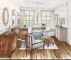 Living Room - Sketch