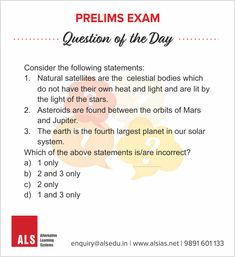 #ALS #ALSIAS #IAS #PrelimsExam #India #CivilServices #UPSC #PrelimsExamQuestion  Answer will be published tomorrow morning.