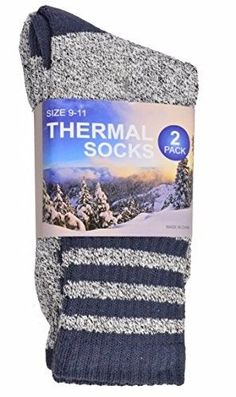 d7c7e6484 Soxnet Eco Friendly Heavy Weight Recycled Cotton Thermals Boot Socks 2-Pack  (Stripe Blue