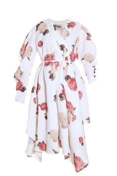 SS16 | A.W.A.K.E. White Flower Wrap Dress. Available in-store and on Boutique1.com