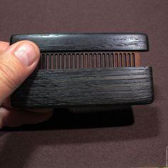 Купить Расческа в футляре из мореного дуба 5400 лет - черный, мореный дуб, палисандр, гребень