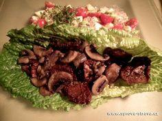Syrové marinované žampiony (raw food) :: Syrová strava Raw Food Recipes, Beef, Vegan, Fit, Ethnic Recipes, Health, Meat, Salud, Health Care
