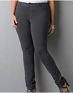 5c4f673cfe4 Never Worn LANE BRYANT Zinc Gray jean Stretch Pants Jeggings Plus Size 22   LaneBryant  jeanstyleknitpantjegging  CasualWorkWeekends