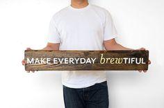 Beer Art  Wooden Beer Sign  Bar Sign  Hand by byDadandDaughter