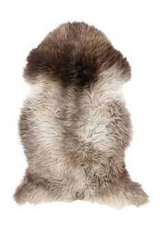 Sheepskin Rug, Gray/Natural - traditional - rugs - by TOAST Decorating Your Home, Interior Decorating, Decorating Ideas, Sheepskin Rug, Home And Deco, Traditional Rugs, Interior Accessories, Log Homes, Graphic