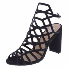 cacf51f4e5b Shop Women s Brash Black size 6 Heels at a discounted price at Poshmark.  Description  High Heels Black Caged Ankle Strap Sandals Block Chunky 6  Womens Brash ...