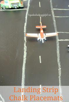 Airplane Activity Mat - landing strip place mat