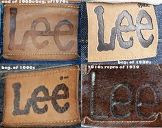 different LEE patches of jeans in our collection