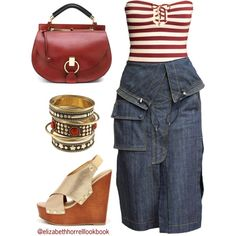 LIZ by elizabethhorrell on Polyvore featuring H&M, Soda and Chloé