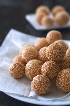 banh cam (or sesame seed balls), my grandma makes these all the time and they're sooooooo good