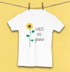 Sunflower Cute Kids Clothes Cute Toddler Clothes by WatercolorZoo