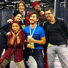 Mari Takahashi, Matthew Sohinki, Wes Johnson, Amra Ricketts, Joshua Ovenshire and Mark Fischbach / Smosh Games and Markiplier