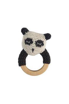 Sebra Panda Crochet Rattle