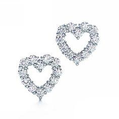 Tiffany & Co Open Heart Diamond Earrings - $69.86 : Tiffany Outlet Online