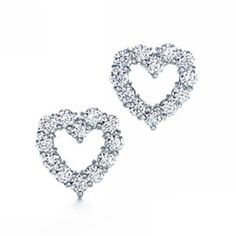 Tiffany & Co Open Heart Diamond Earrings - $69.86 : Tiffany Outlet Online