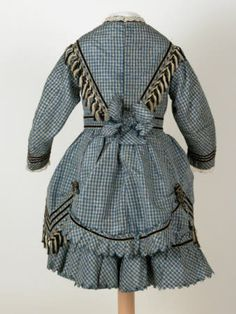 1872 Girls Dress, Killerton, Devon, National Trust Fashion Collection © National Trust - cotton, silk, velvet