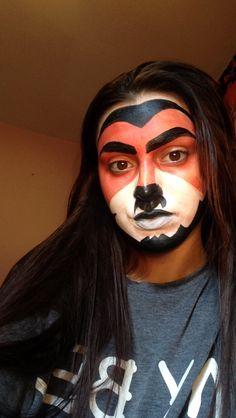 BTEC theatrical make up Lion King prep
