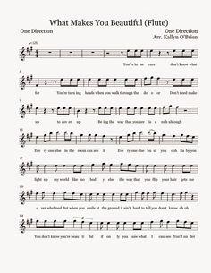 Flute Sheet Music: What Makes You Beautiful - Sheet Music