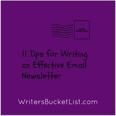 11 tips for writing an effective email newsletter