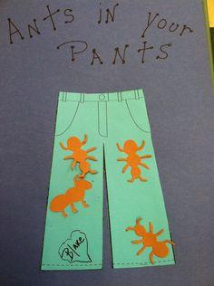 Ant in pants craft for preschoolers