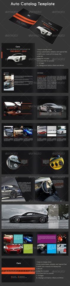 Auto Catalog Template — InDesign INDD #clean design #catalog • Available here → https://graphicriver.net/item/auto-catalog-template/7883176?ref=pxcr