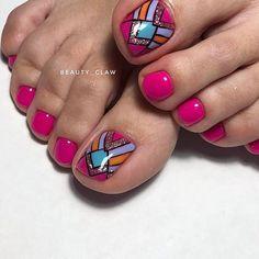 Pedicure, Nail Colors, Colorful Nails, Instagram Posts, Beauty, Feet Nails, Nail Manicure, Nail Polish Art, Pedicures