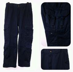 5.11 Tactical Series Men's 34x32 Cargo 511 Utility Pants Black Ripstop 34 x 32 #511Tactical