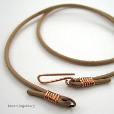 DIY Tutorial: DIY Wrapped Jewelry  / DIY Leather Choker for Pendants - Bead&Cord