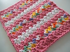 Apple Blossom Dreams: Stash-Buster #17 - Changing Dishcloth Directions III