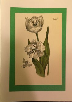 Tulip Greeting Card by HandCutGreetings on Etsy https://www.etsy.com/listing/247882687/tulip-greeting-card