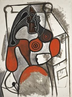Femme Assise by Pablo Picasso on Widewalls. Browse more artworks by Pablo Picasso and auction records with prices and details of each sale! Pablo Picasso Drawings, Picasso Paintings, Cubist Movement, Francis Picabia, Spanish Painters, Art Moderne, Henri Matisse, Gouache, Abstract Art
