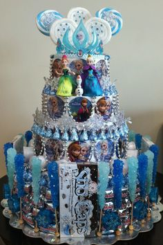 Frozen Party! Frozen Cake! Frozen Party Theme! Elsa crown