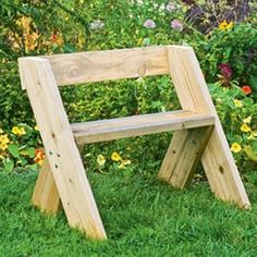 Build a Leopold Bench. When the famed conservationist Aldo Leopold wanted a place to sit, he built himself a simple bench with timeless appeal. The bench is easy to replicate, so it makes a good garden project for those with little carpentry experience. Outdoor Projects, Garden Projects, Wood Projects, Woodworking Projects, Teds Woodworking, Leopold Bench, Diy Garden Furniture, Furniture Ideas, System Furniture