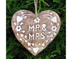 Nordic style heart, Mr & Mrs