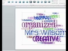 Video tutorial showing how to create end of the year word cloud gifts for students
