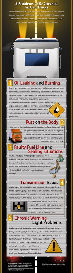 5 Problems to Be Checked In Used Trucks