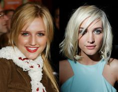 Ashlee Simpson notoriously got a nose job. You have to Google Ashlee Simpson pre-nose job if you even want to find an old photo of her.