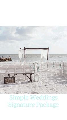 Beach Photography, Wedding Photography, Simple Weddings, Beach Weddings, Beach Wedding Photos, Beach Ceremony, Welcome To Our Wedding, Ceremony Decorations, Florida