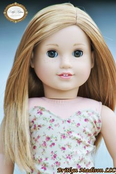 Custom Grace Thomas with Auburn hair and Amber eyes