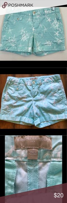 Banana Republic Starfish Shorts Starfish print shorts. VGUC. Banana Republic Shorts