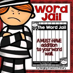 Word Wall: This addition to your word wall is a Word Jail to place near your word wall to place hard-to-spell words on.   Do your students struggle to read and spell those tricky word wall words that I call rule breakers?  If so, then the Word Jail is just what you need to add to your Word Wall.These products compliment the Word Jail: My Companion Pack is a great way to practice the Word Jail words and provide students more independent.