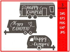 Camper svg-Happy camper svg-Camping svg-camping cut files-Svg