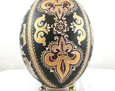 Osterei Hühnereier Pysanka Hand verziert Geschenk